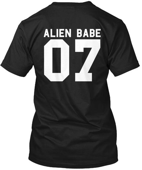 Alien Babe 07 Black T-Shirt Back