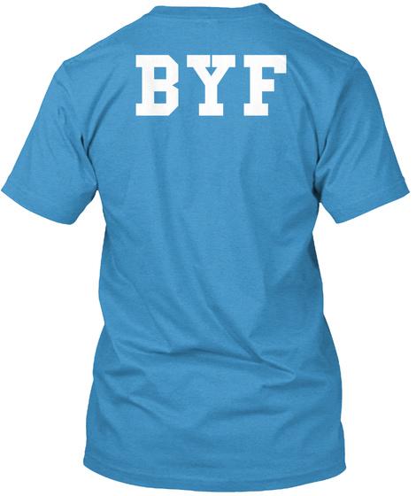 Byf Heathered Bright Turquoise  T-Shirt Back