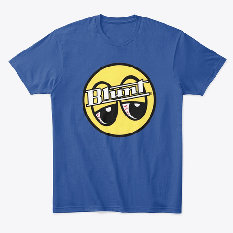 Blunt  Red Eyes Deep Royal T-Shirt Front