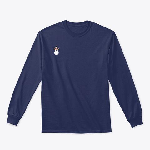 Cute Snowman Shirts And Sweatshirts Navy T-Shirt Front