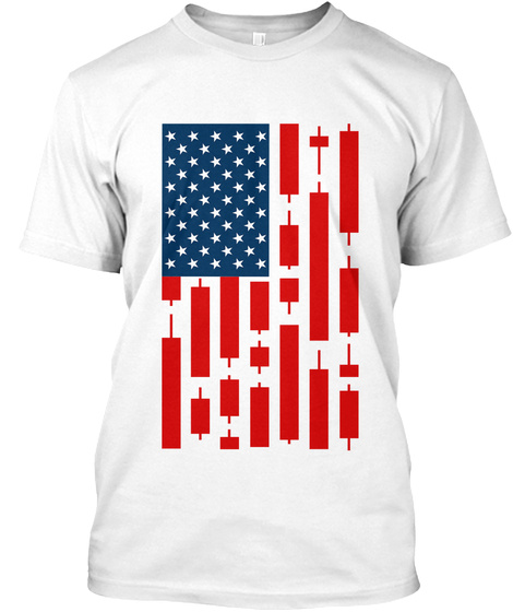 Star Spangled Candles White T-Shirt Front