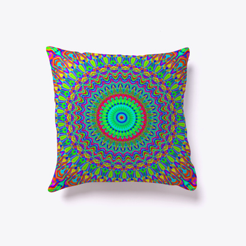 Neon Psychedelic Groovy Rainbow Mandala  Standard T-Shirt Front