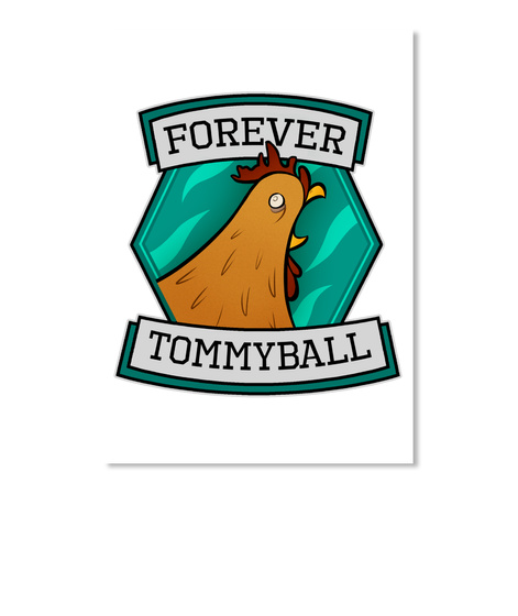 Forever Tommyball White Sticker Front