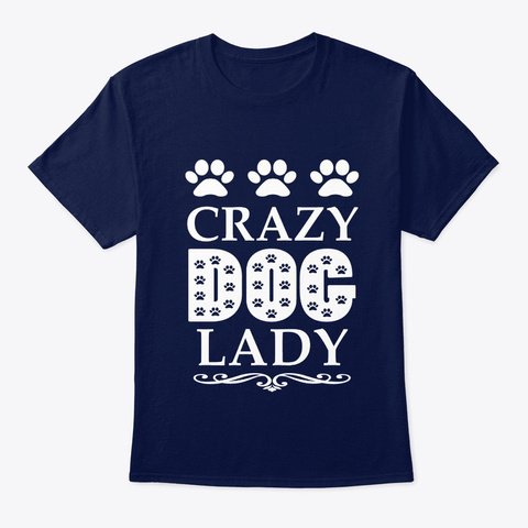 Dog Lover Lady Navy T-Shirt Front