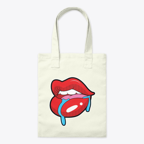 Tote Bags   Lips Art Natural T-Shirt Front