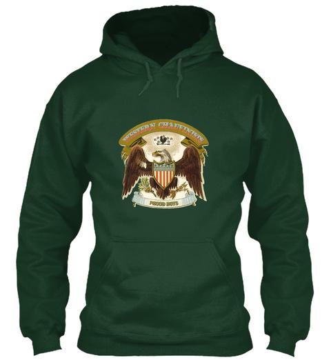 Western Chauvinist Proud Boys Forest Green Sweatshirt Front