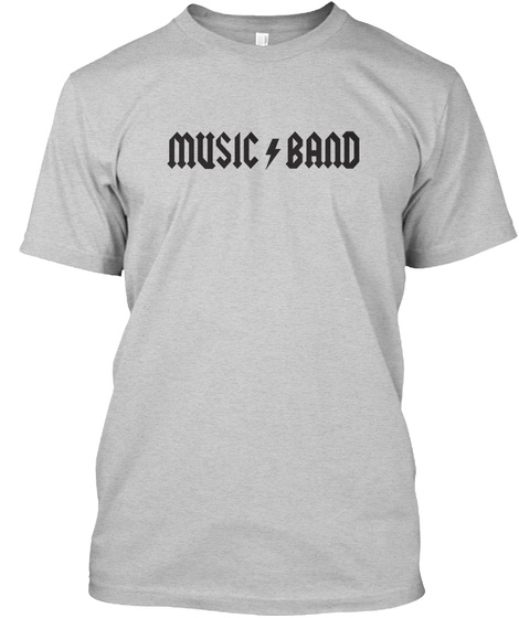 Music Band T Shirt Light Steel T-Shirt Front