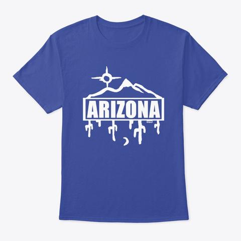 Arizona Shirts And Hoodies (A4) Clayink Deep Royal T-Shirt Front