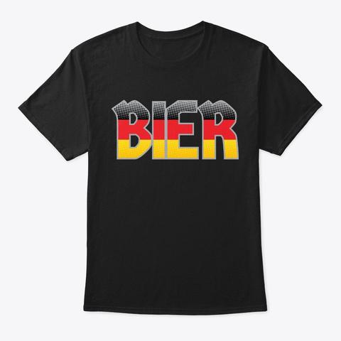 German Bier Gift German Beer Drinking Ok Black T-Shirt Front