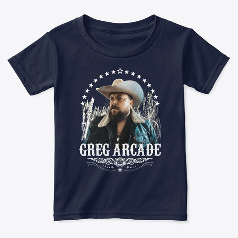 Greg Arcade   October Wheat Field Navy  T-Shirt Front