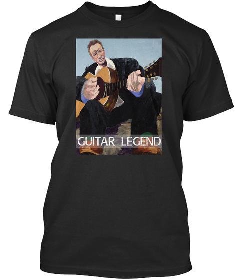 Guitar Legend Black T-Shirt Front