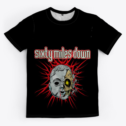 Sixty Miles Down Doll Head Black T-Shirt Front