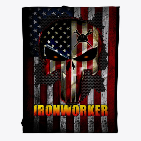 Sarcastic Ironworker Blanket Black T-Shirt Front