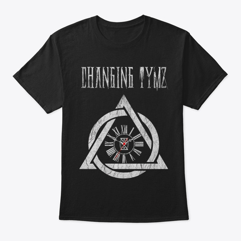Changing Tymz Clockface T Shirt #1 Black T-Shirt Front