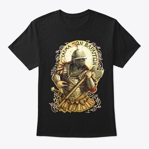 13th Century Varangian Vignette, 2 Sided Black T-Shirt Front