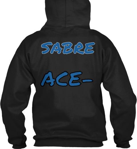 Sabre Ace  Black T-Shirt Back