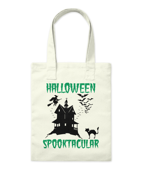 Halloween Spooktacular Natural Tote Bag Front
