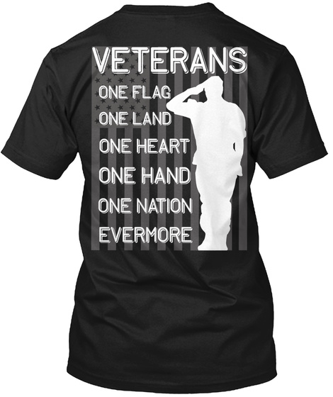 Awesome Veterans   Limited Edition! Black T-Shirt Back