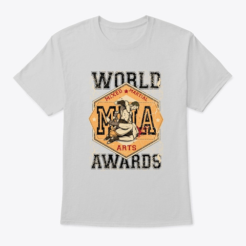 Mma World Awards   Awesome Mma Lover Gif Light Steel T-Shirt Front