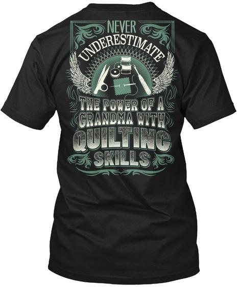 Quilting Black T-Shirt Back