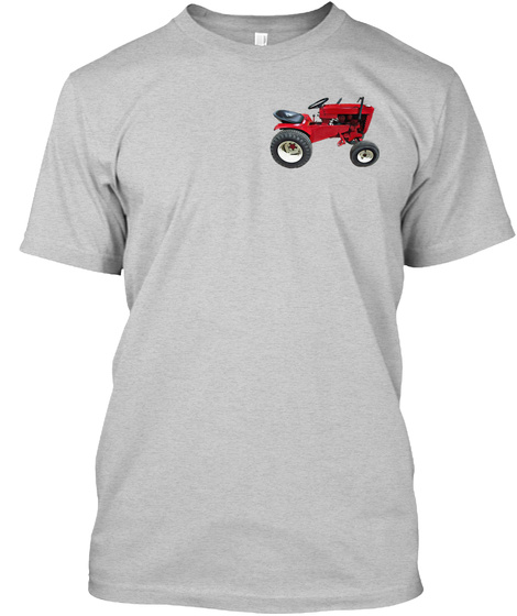 I Love Little Tractors Light Steel T-Shirt Front
