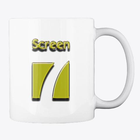Screen 7 Mug (Gold Logo) White Mug Back