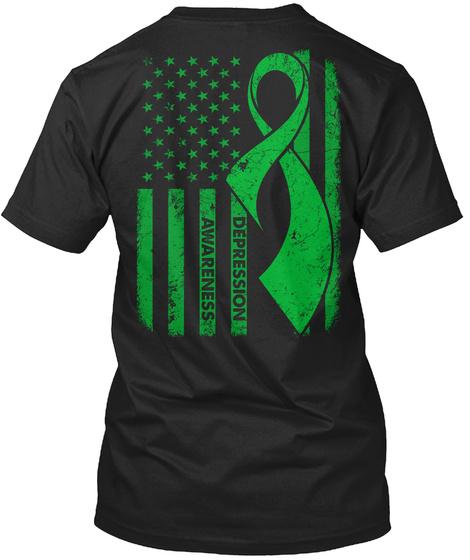 Depression Awareness Black T-Shirt Back