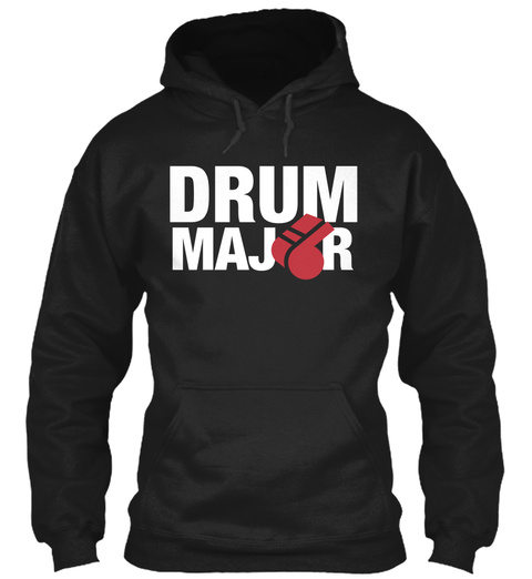 Drum Maj R  Black T-Shirt Front