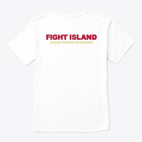 Fight Island   Ko's   Subs   Beach Vibes White T-Shirt Back