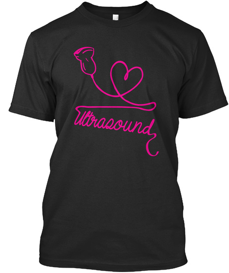 Ultrasound  Black T-Shirt Front