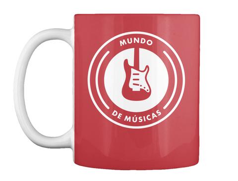 Mundo De Musicas Bright Red Mug Front