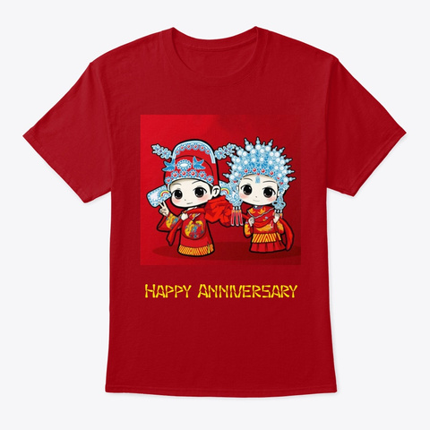 Chinese New Year Anniversary Celebration Deep Red T-Shirt Front