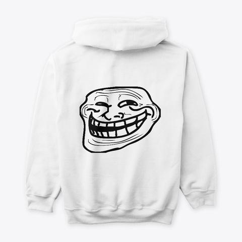 Troll White T-Shirt Back