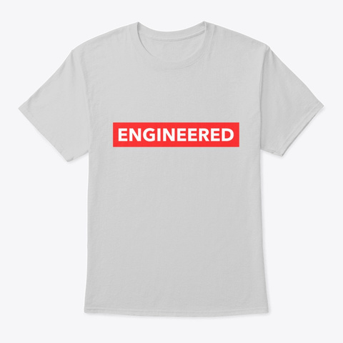 Engineering Graduate  Light Steel T-Shirt Front