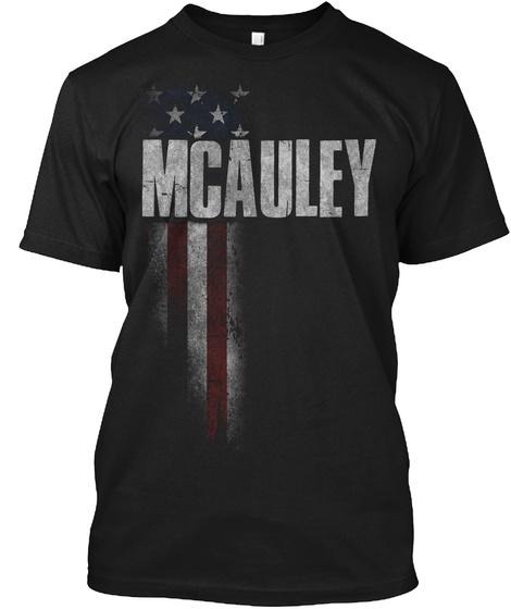 Mcauley Family American Flag Black T-Shirt Front