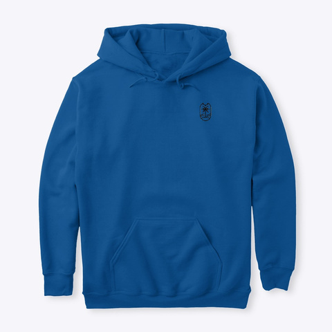 Hot Palms Logo Hoodie Royal T-Shirt Front