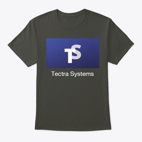 Tectra Logo Attire Collection Smoke Gray T-Shirt Front