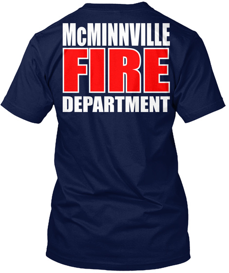 Mc Minnville Fd Navy T-Shirt Back