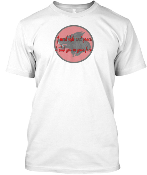 Black Wolf Historical Fencing Club White T-Shirt Front