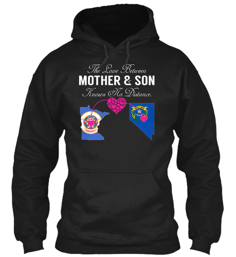 Mother Son   Minnesota Nevada Black Camiseta Front