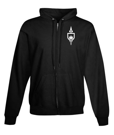 Incon Logo (Zip Hoodie) Black T-Shirt Front
