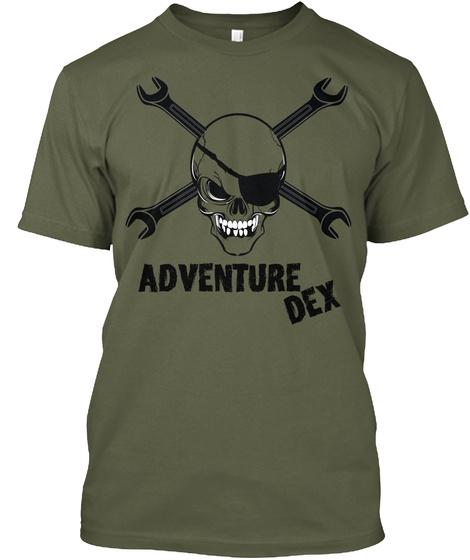 Adventure Dex Military Green Camiseta Front