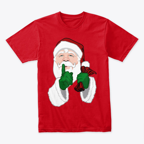 Santa Clause Christmas  Red T-Shirt Front