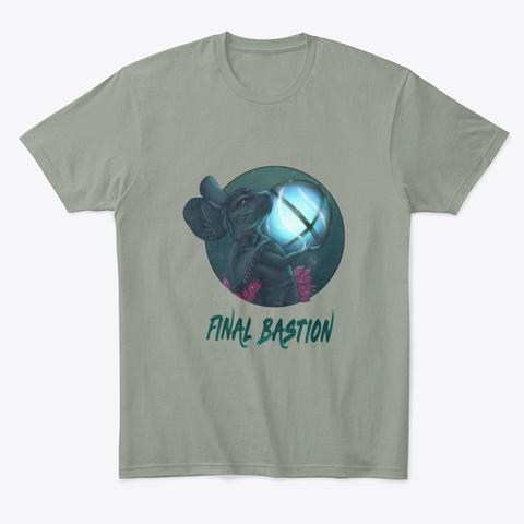 Final Bastion Wear Grey T-Shirt Front