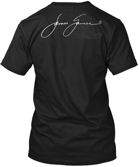 Official James Garner T Shirts Black T-Shirt Back