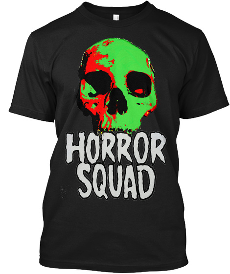 Horror Squad Black T-Shirt Front