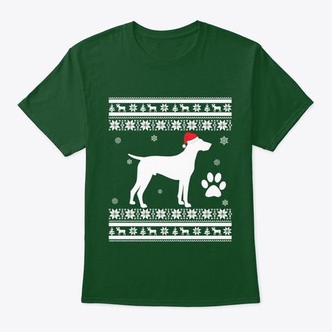 German Shorthaired Pointer Dog Christmas Deep Forest T-Shirt Front