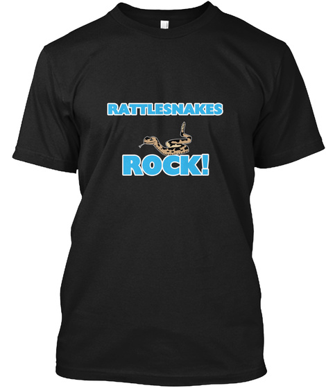 Rattlesnakes Rock! Black T-Shirt Front