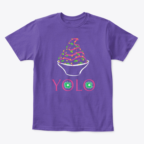 Yolo Kids' Tee Purple  T-Shirt Front