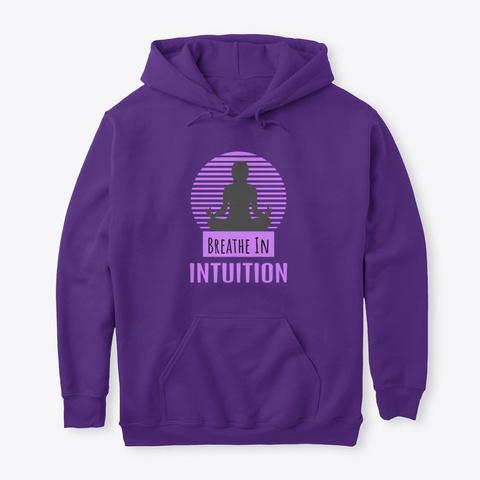 Breathe In Zen Meditation Purple Purple T-Shirt Front